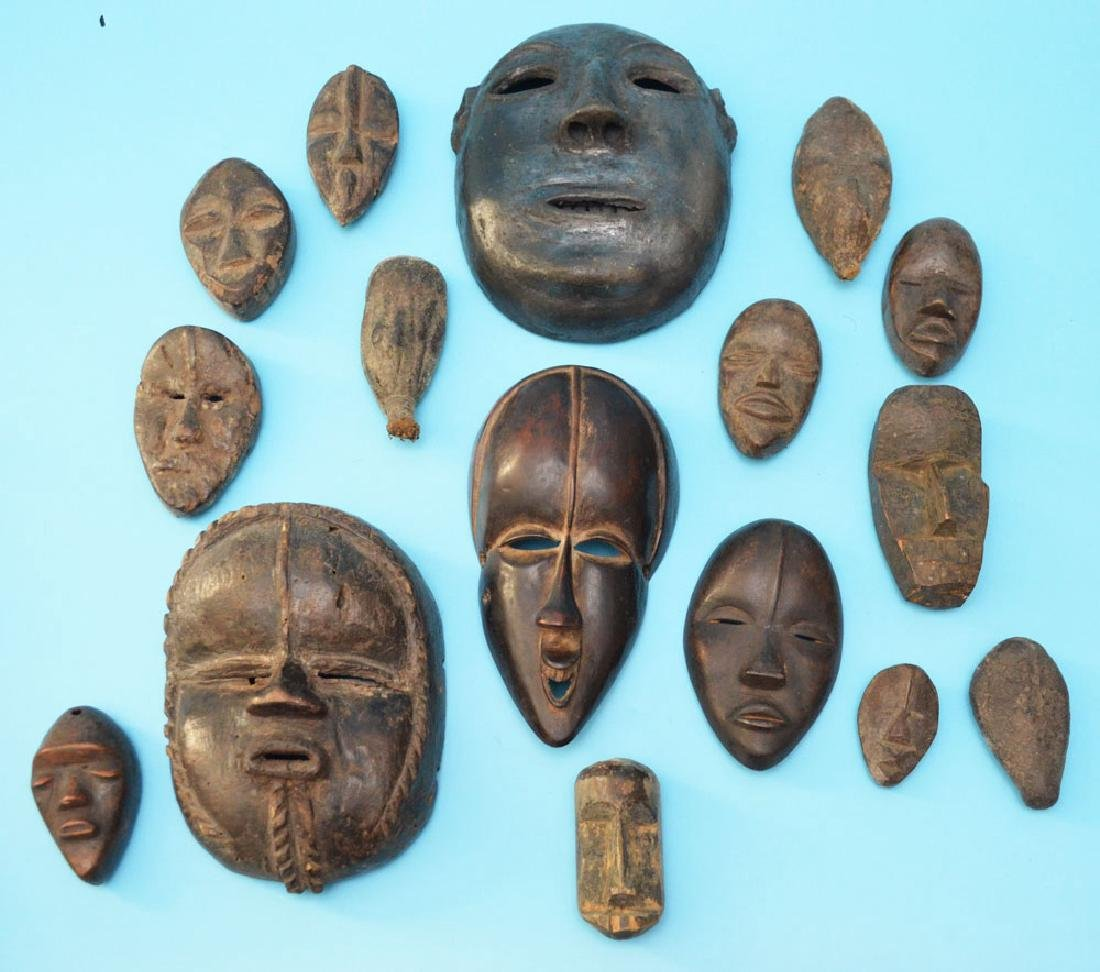 16 Vintage & Antique African Passport & Society Masks