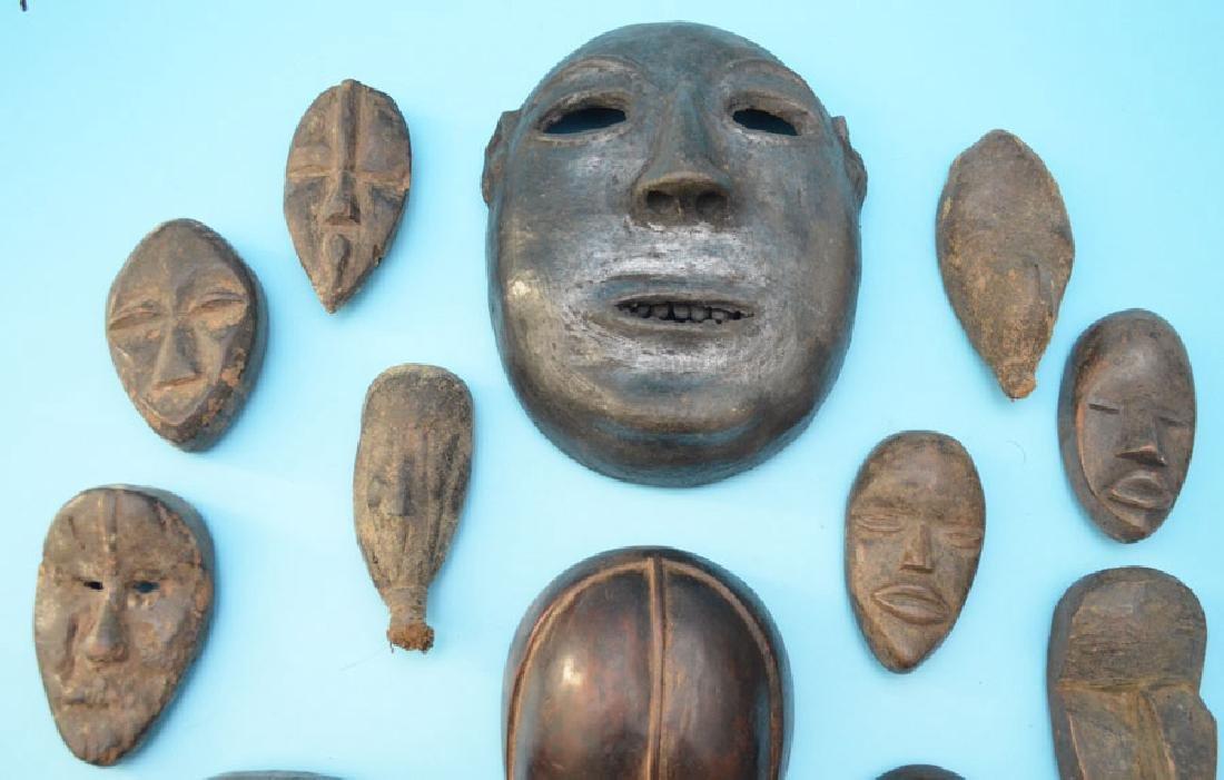 16 Vintage & Antique African Passport & Society Masks - 2