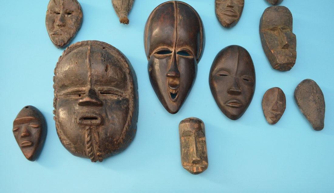 16 Vintage & Antique African Passport & Society Masks - 3