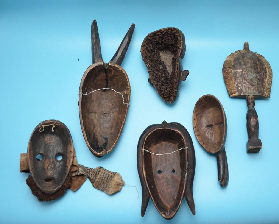 Lot of 6 Vintage / Antique African Masks - 2
