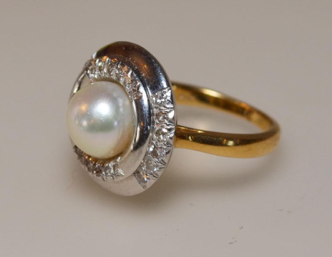Interesting Platinum Diamond  & Gold Cocktail Ring
