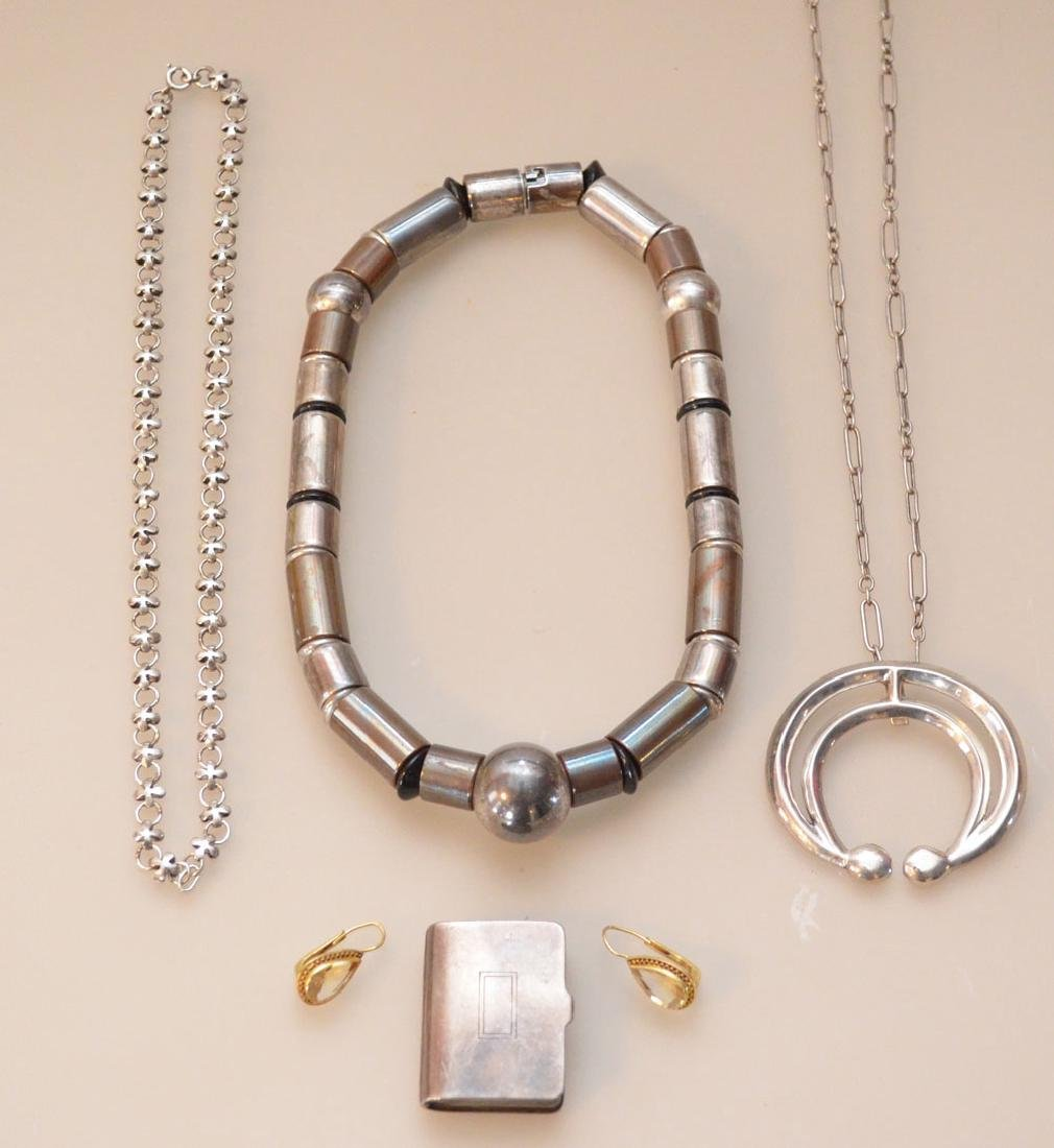 Lot of Sterling Silver Jewelry (Necklaces, Earrings