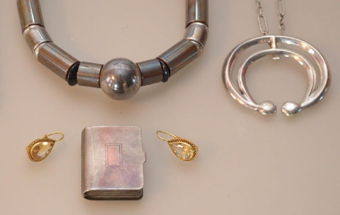 Lot of Sterling Silver Jewelry (Necklaces, Earrings - 3
