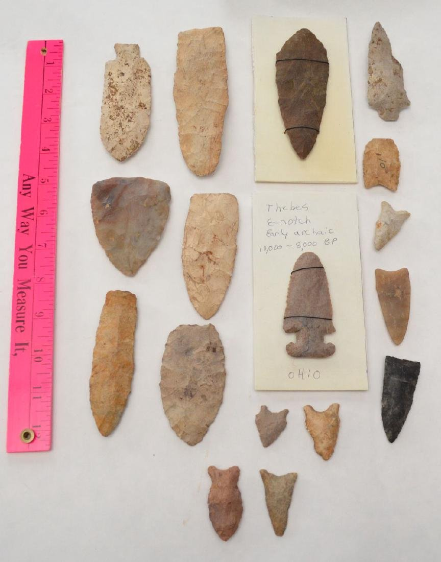 Group Of Ancient Large & Misc Arrowheads