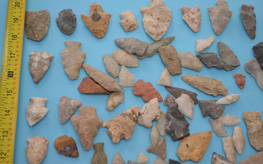 Large Group Of Native American Arrowheads - 2