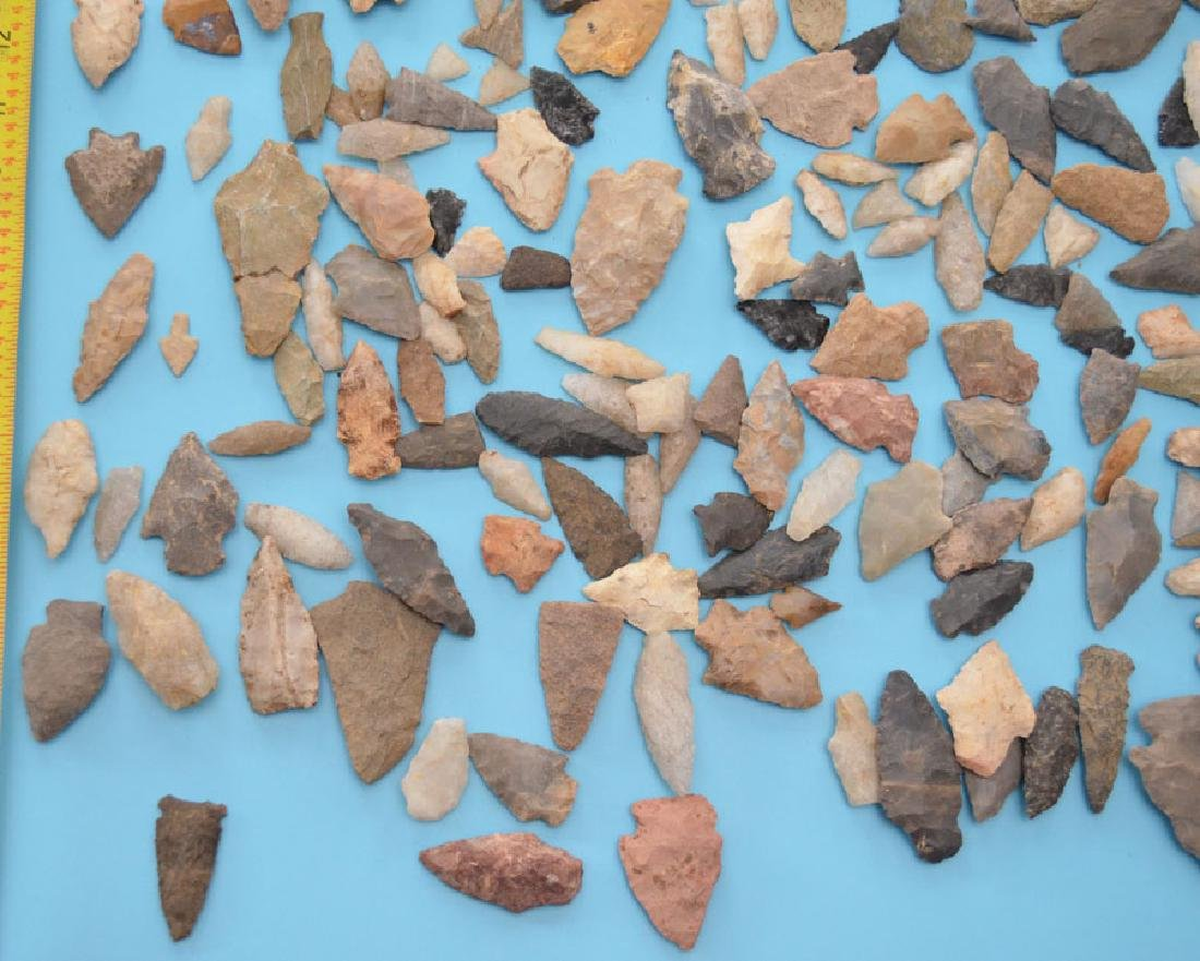 Large Group Of Native American Arrowheads - 3
