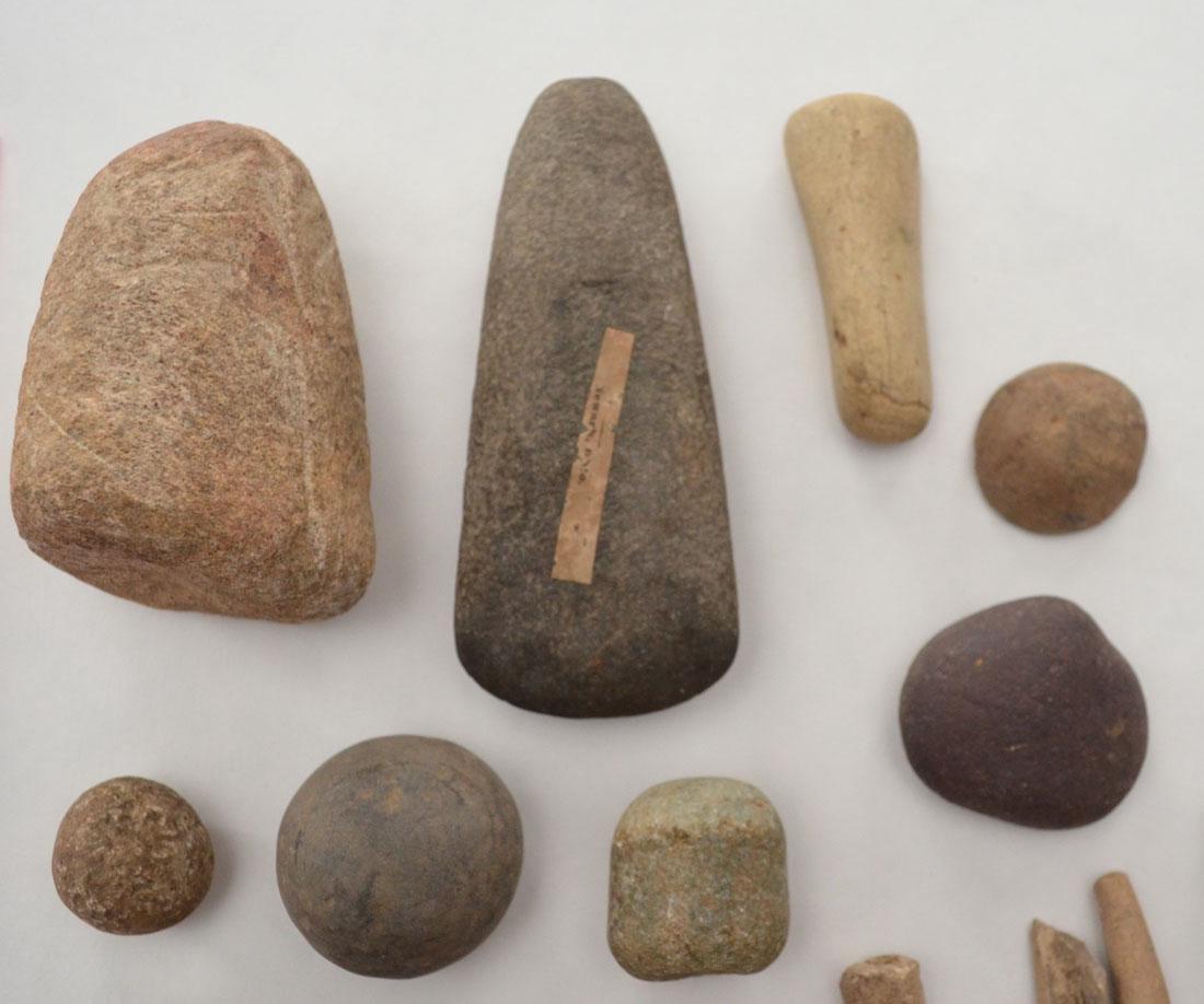 Native American Game Stones, Bone Tools  & Paint Pots - 2