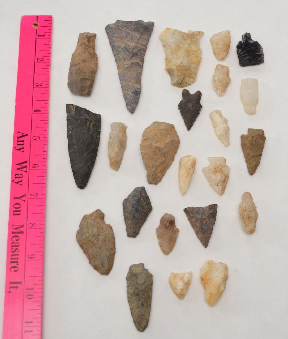 Group Of Ancient Spear Heads & Arrowheads