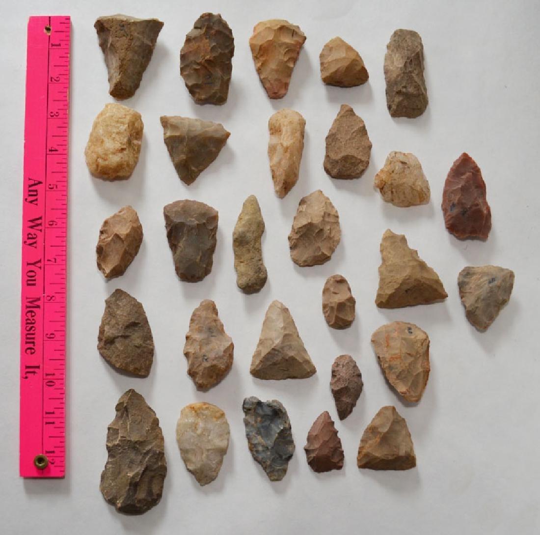 Group of Native American Arrowheads