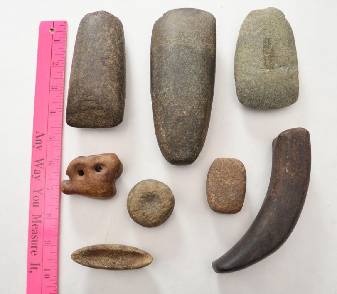 Lot of Native American Celts, Boat Stones, etc