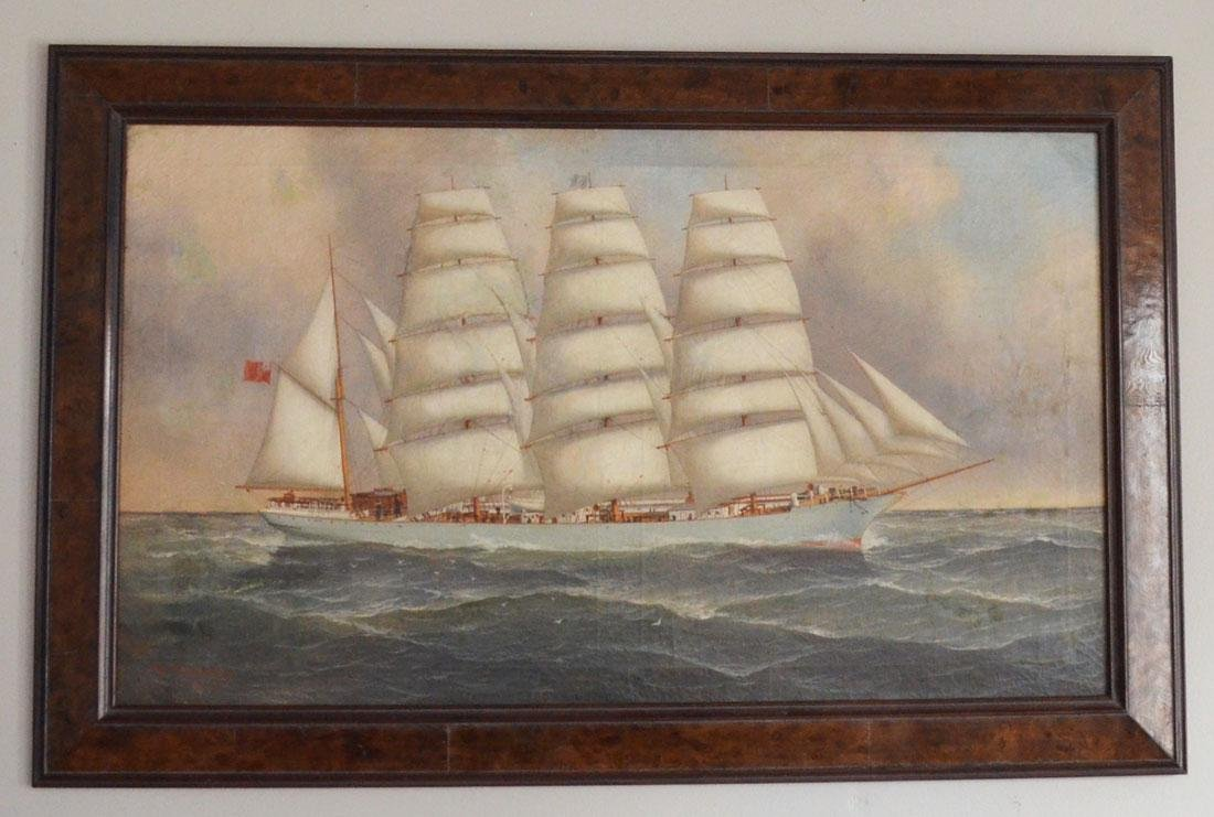JH Mohrmann Signed Ship Painting