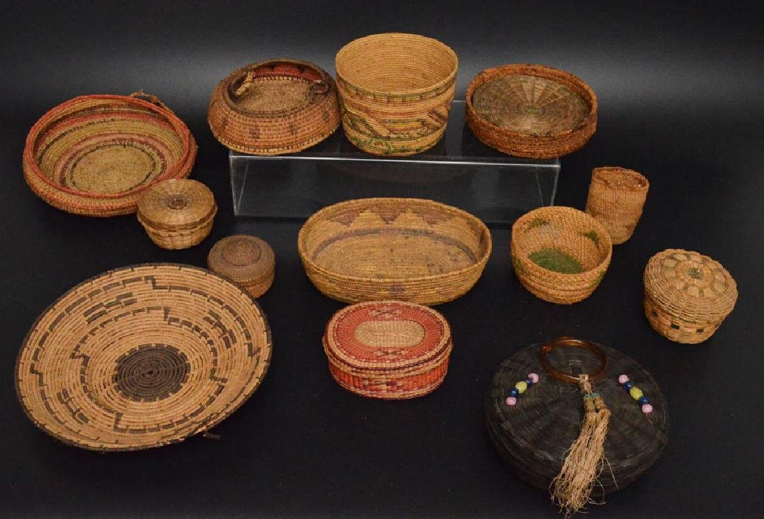 Collection of 20+ Baskets (Asian, Native American)