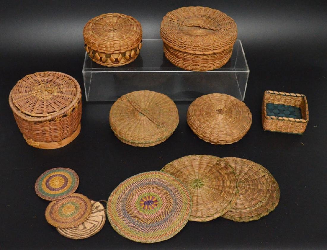 Collection of 20+ Baskets (Asian, Native American) - 2