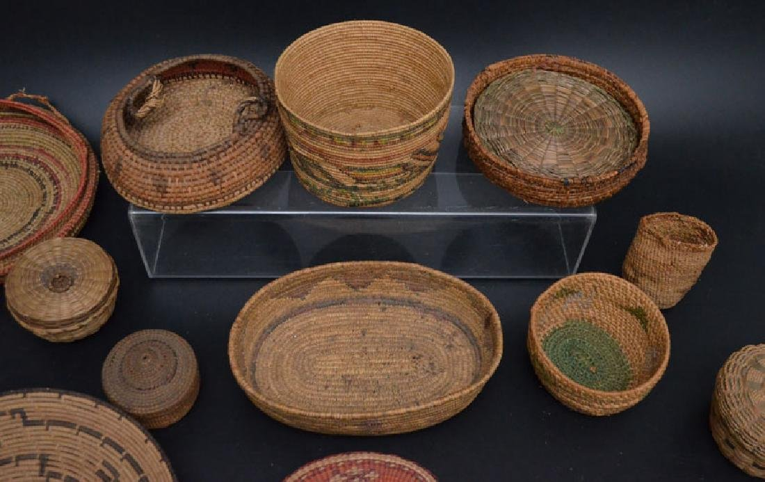 Collection of 20+ Baskets (Asian, Native American) - 3