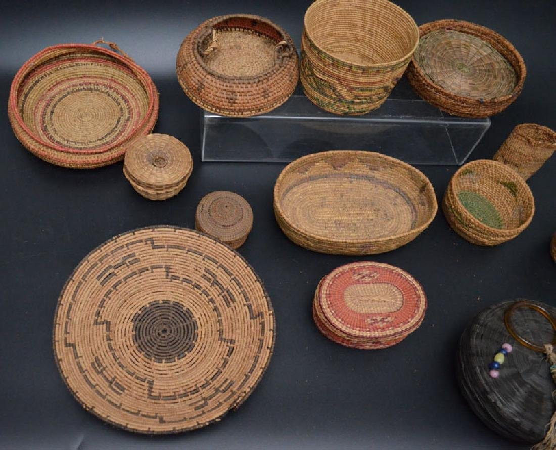 Collection of 20+ Baskets (Asian, Native American) - 4
