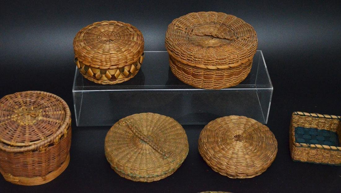 Collection of 20+ Baskets (Asian, Native American) - 6