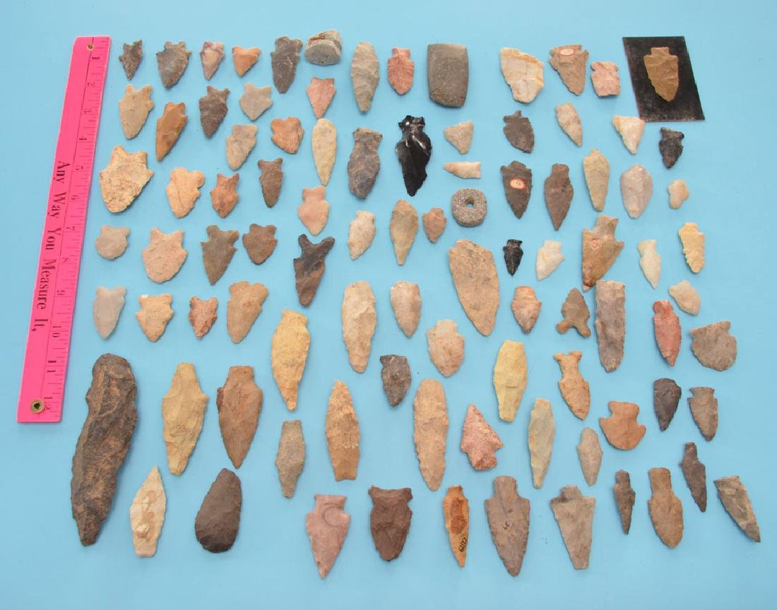 NC Spear Point & Bifurcated Arrowheads Etc