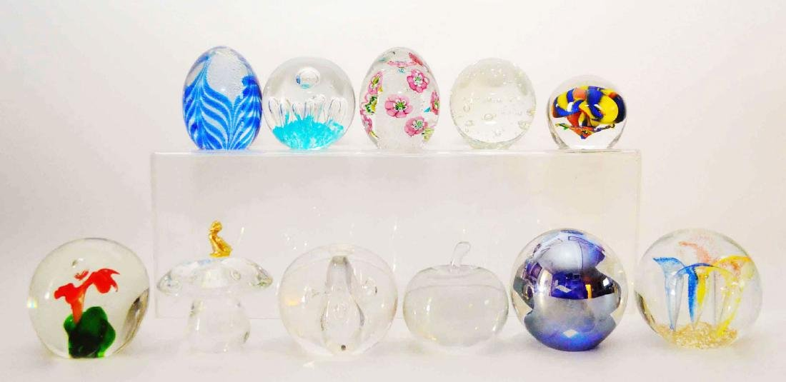 Lot of Vintage Glass Paperweights