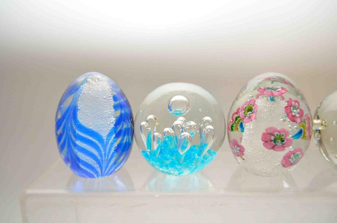 Lot of Vintage Glass Paperweights - 2