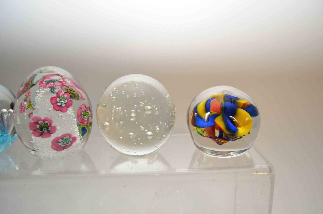 Lot of Vintage Glass Paperweights - 3