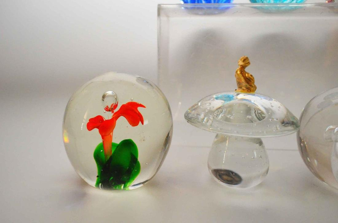 Lot of Vintage Glass Paperweights - 4