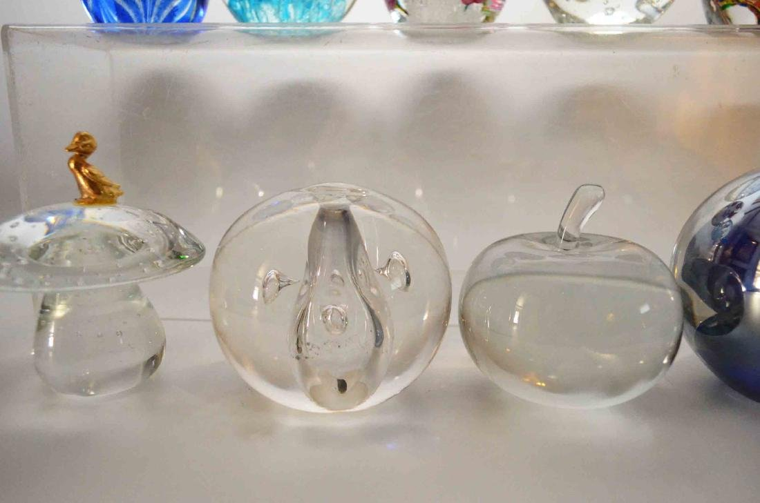 Lot of Vintage Glass Paperweights - 5
