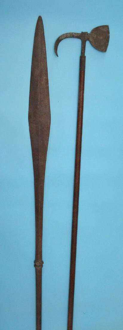 Two 10' Long Spears (African & European)