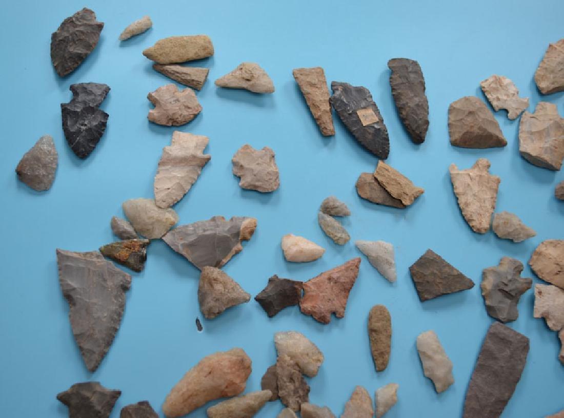 Native American Arrowheads, Scrapers & Knives - 2