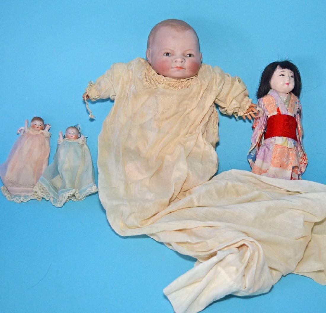 Lot Of Antique Dolls Putnam, Miniature Etc