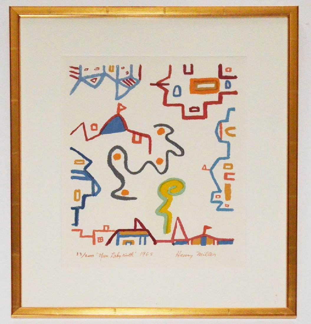 Signed & Numbered Henry Miller Lithograph