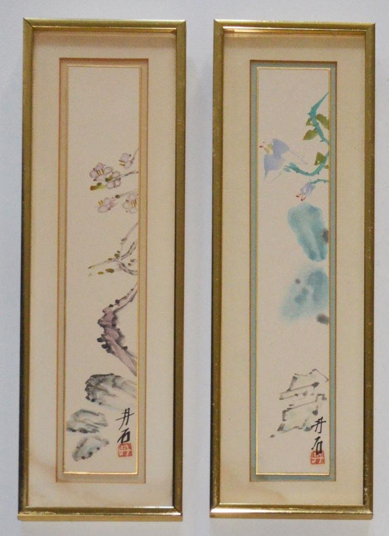 2 Signed Chinese Watercolor Paintings