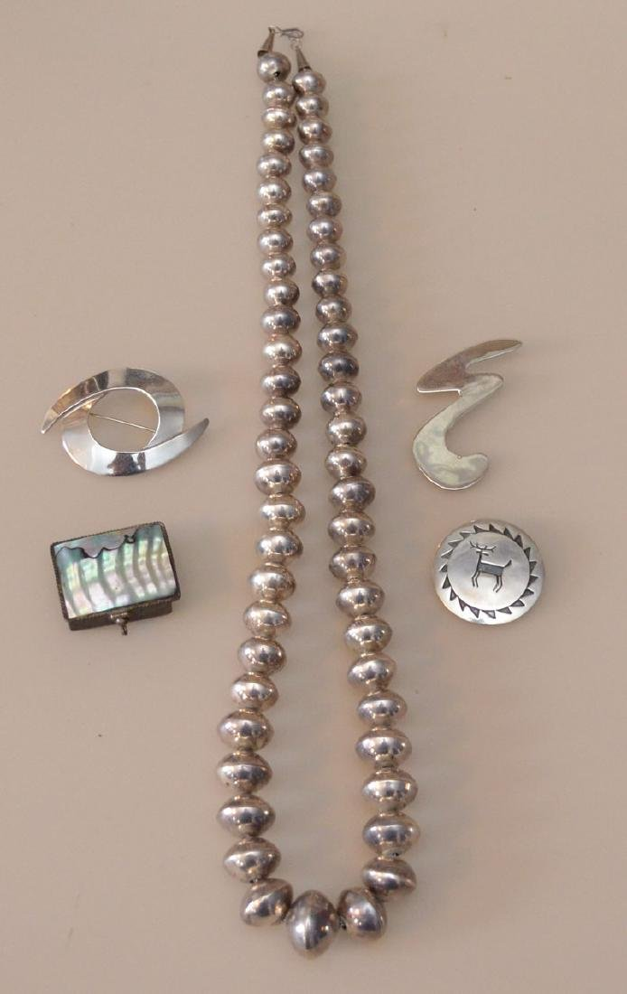 Lot of Sterling Silver Jewelry (Native, Mexican)