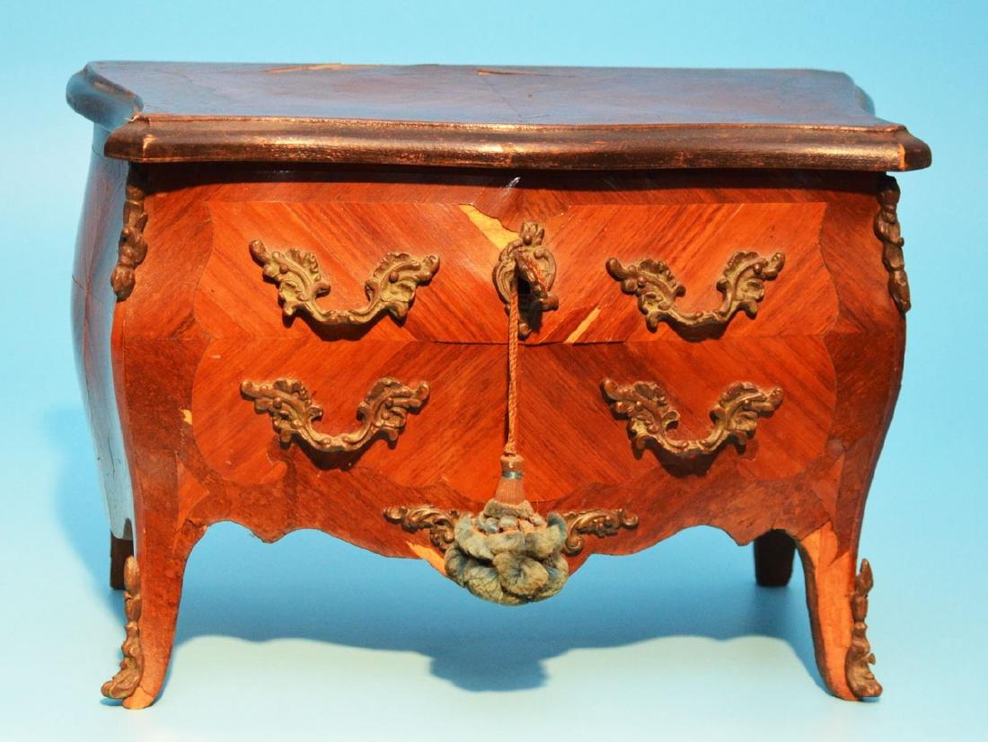 French Louis XV Salesman Sample Chest