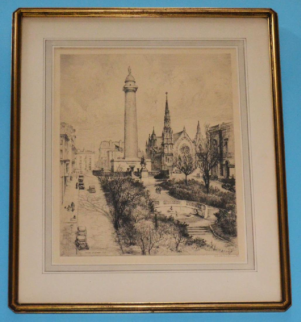 Gabrielle Clements Signed Baltimore Etching