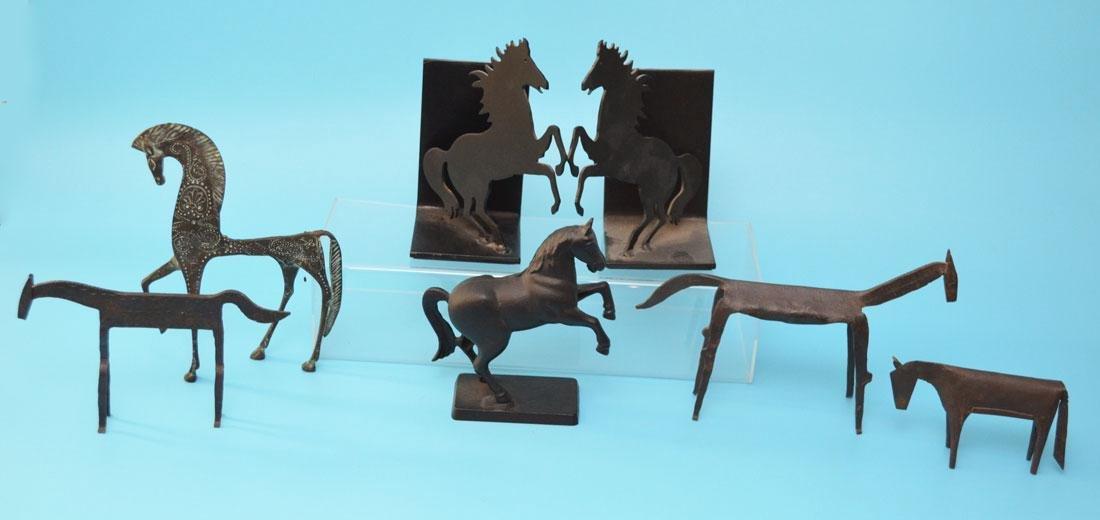 Great Lot Of Metal Vintage Horses