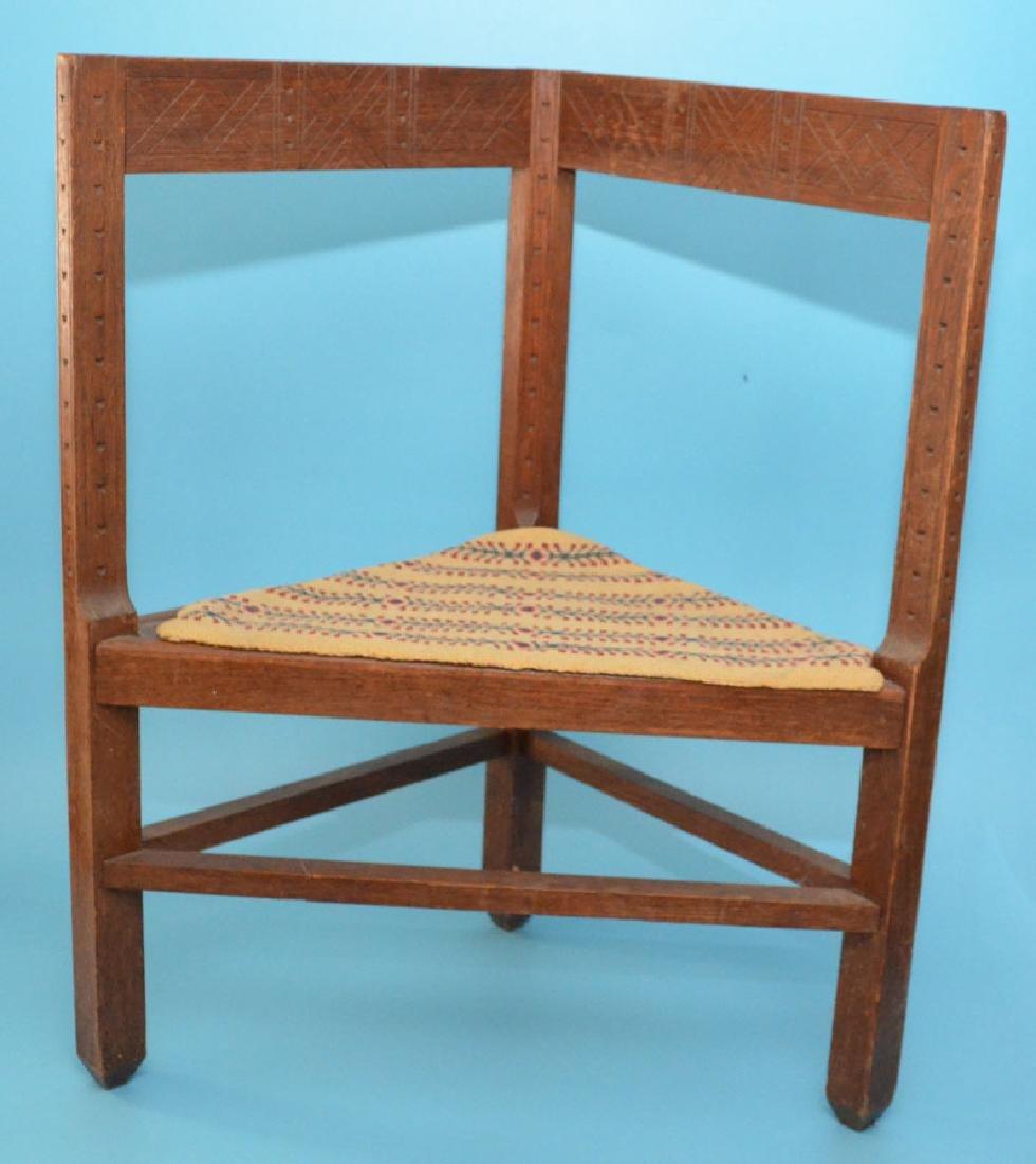 Hard To Find Antique Danish Corner Chair