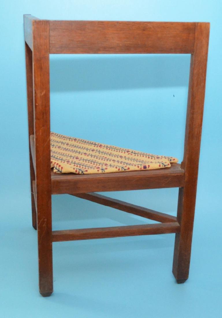 Hard To Find Antique Danish Corner Chair - 3