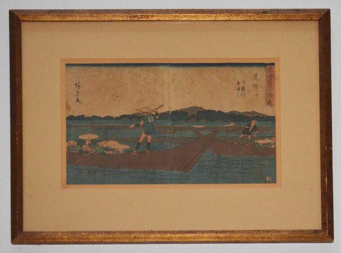 Antique Ando Hiroshige Woodblock Print
