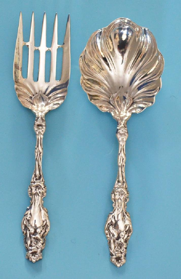 Sterling Silver Lily Serving Pieces