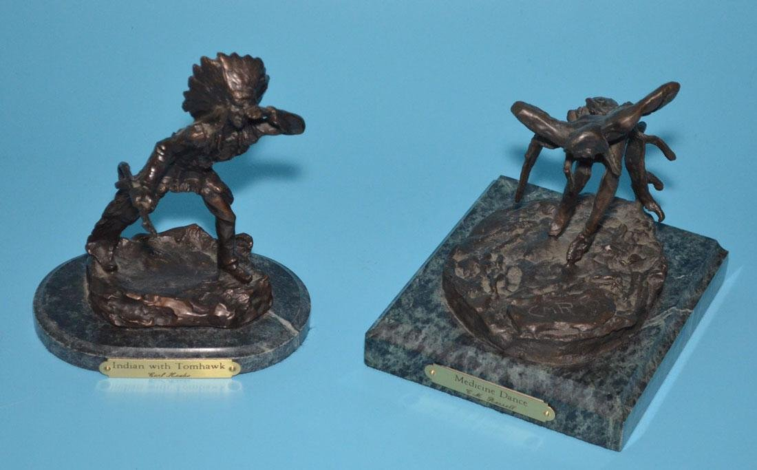 2 Native American Bronzes (Kauba, Russell)