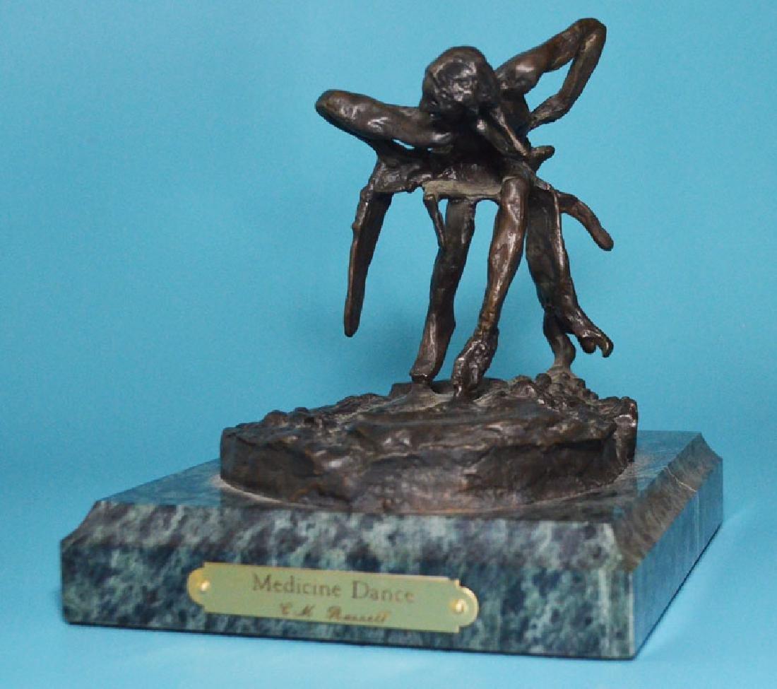 2 Native American Bronzes (Kauba, Russell) - 3
