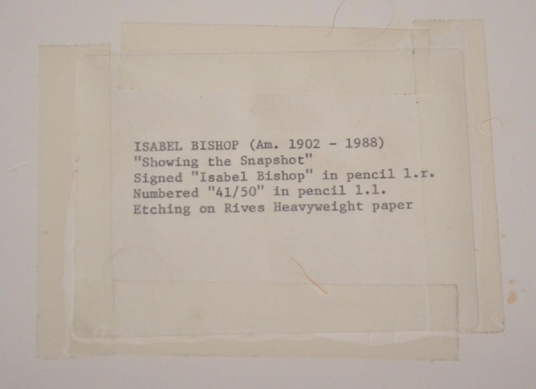 Signed & Numbered Isabel Bishop Etching - 3