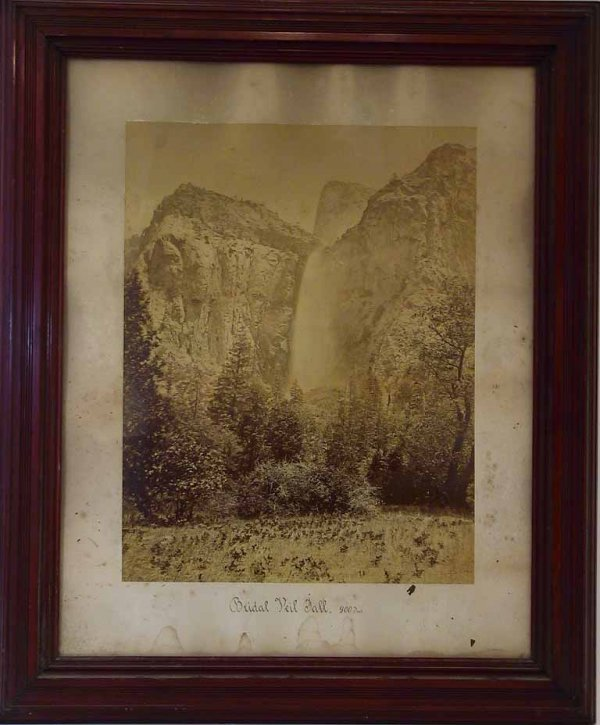 9: Carleton E. Watkins  Photo Bridal Veil Fall Yosemite