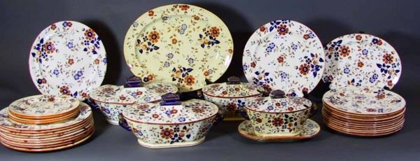 "159: 34 Pcs 19th Century Ridgway China  ""Persia Pattern"