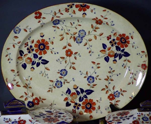 "159: 34 Pcs 19th Century Ridgway China  ""Persia Pattern - 3"