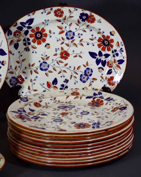 "159: 34 Pcs 19th Century Ridgway China  ""Persia Pattern - 5"
