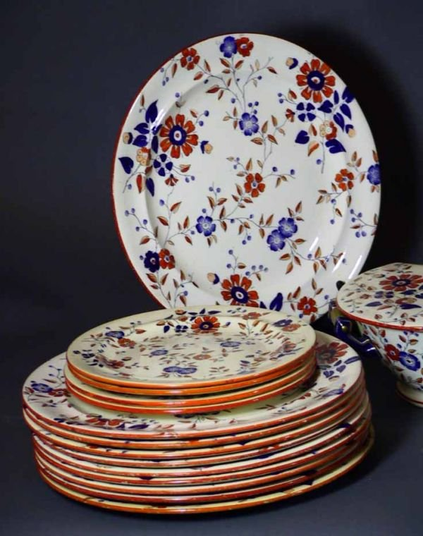 "159: 34 Pcs 19th Century Ridgway China  ""Persia Pattern - 6"