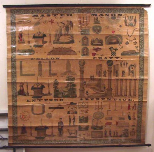 189: 3 Vintage Masonic charts