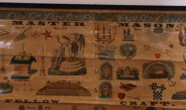 189: 3 Vintage Masonic charts - 2