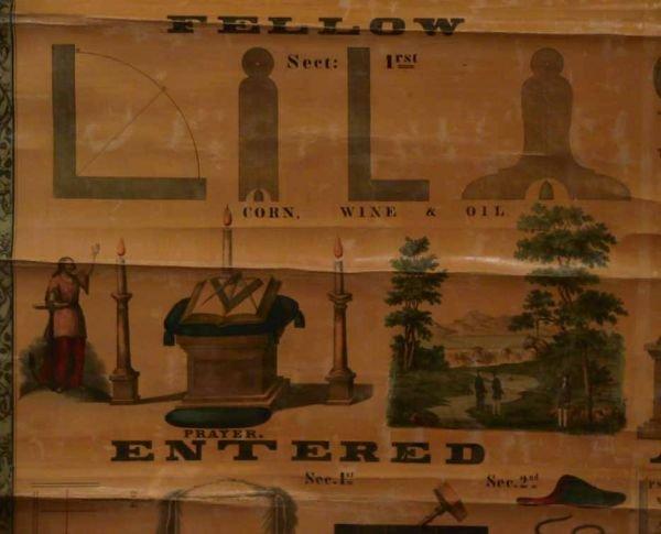189: 3 Vintage Masonic charts - 3